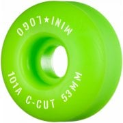 Mini Logo Skateboards Ruedas Mini-Logo Skateboards: C-Cut Green 101A (53 mm)