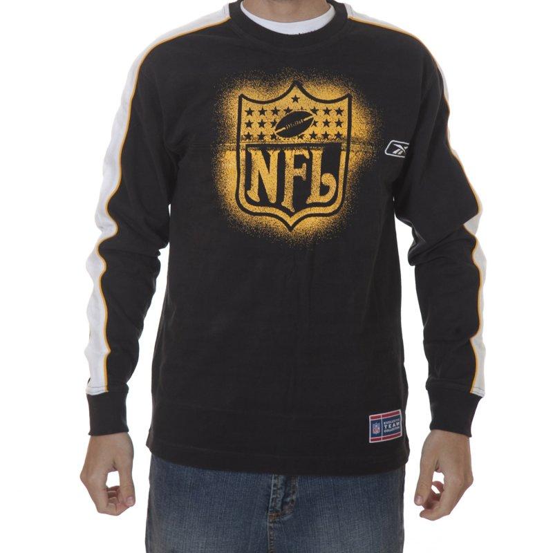 f30d4246151d1 Camiseta NFL Reebok  ML BK