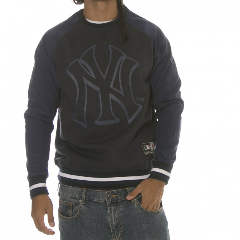 Sudadera Majestic  New York Yankees MLB Hextal Mix Fabric Crew NV ... 3a8d84eac04