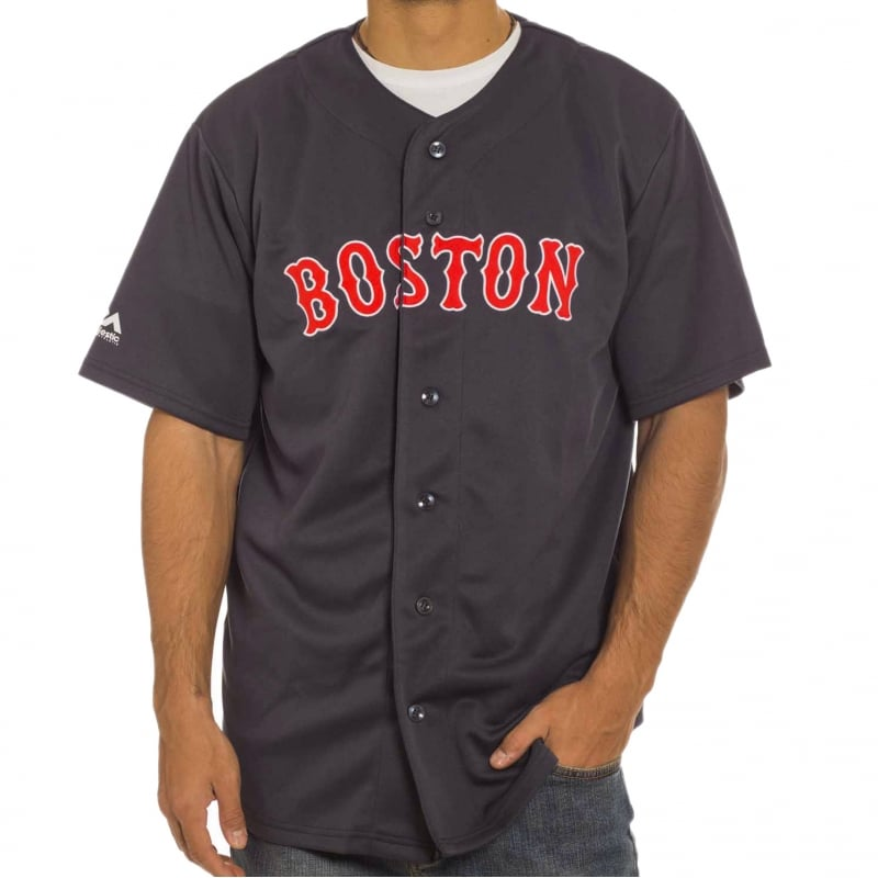 the best attitude bd0b4 34311 Camisa Majestic: MLB Replica Jersey Boston NV
